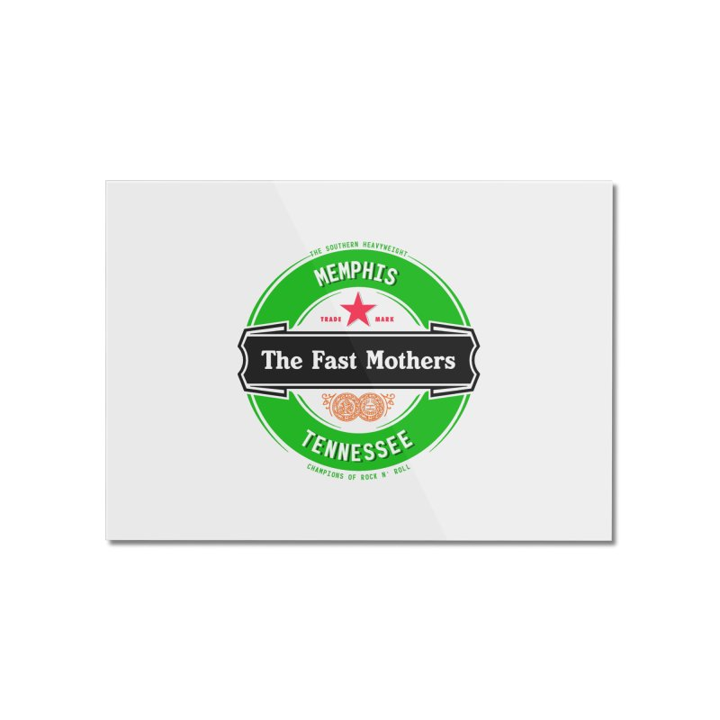 Beer Logo (black banner) Home Mounted Acrylic Print by The Fast Mothers