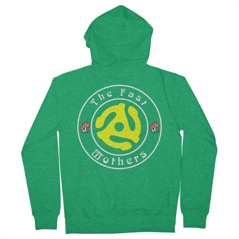 45 RPM for Dark Colors Men's Zip-Up Hoody by The Fast Mothers