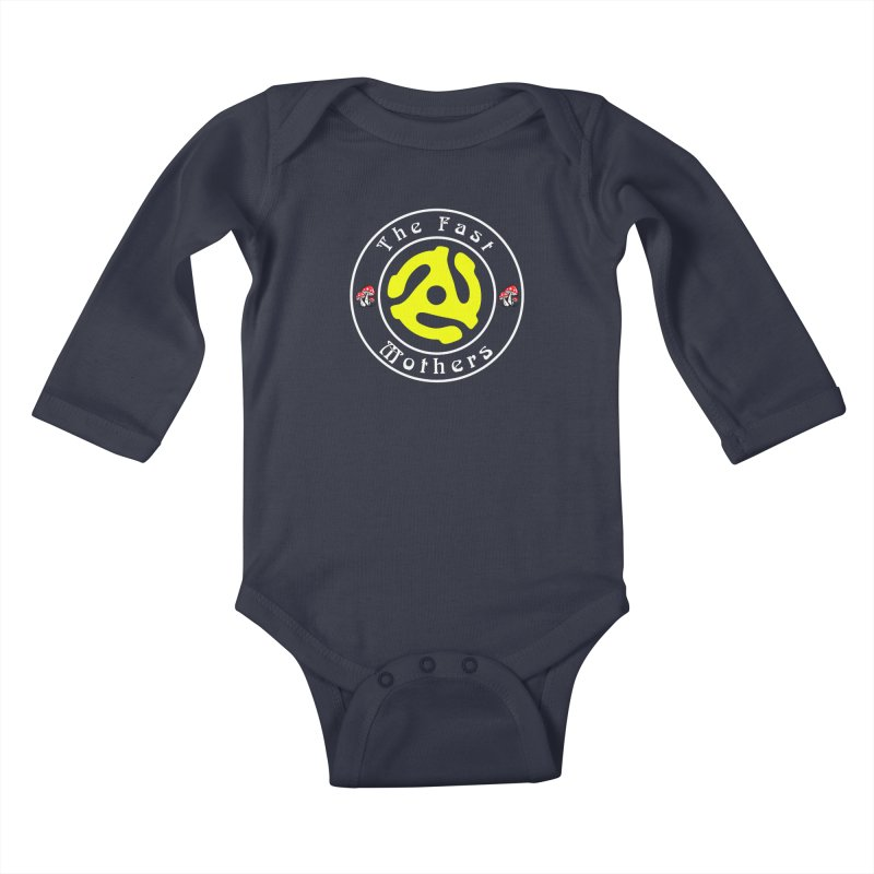 45 RPM for Dark Colors Kids Baby Longsleeve Bodysuit by The Fast Mothers