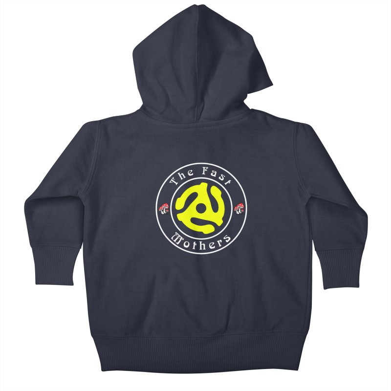 45 RPM for Dark Colors Kids Baby Zip-Up Hoody by The Fast Mothers