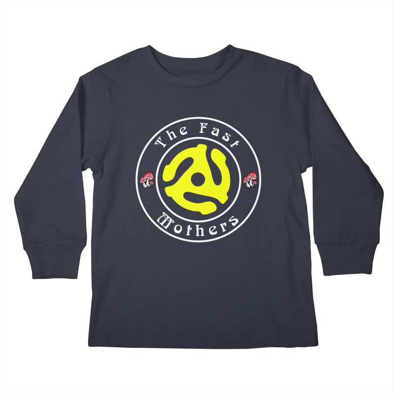 45 RPM for Dark Colors Kids Longsleeve T-Shirt by The Fast Mothers