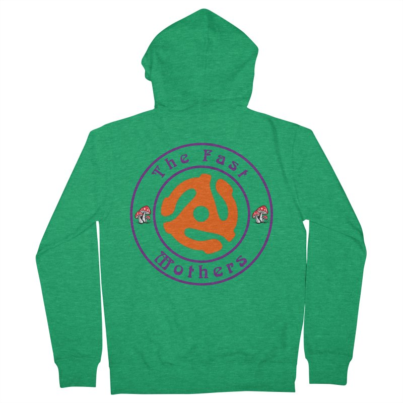 45 RPM for Light Colors Men's Zip-Up Hoody by The Fast Mothers