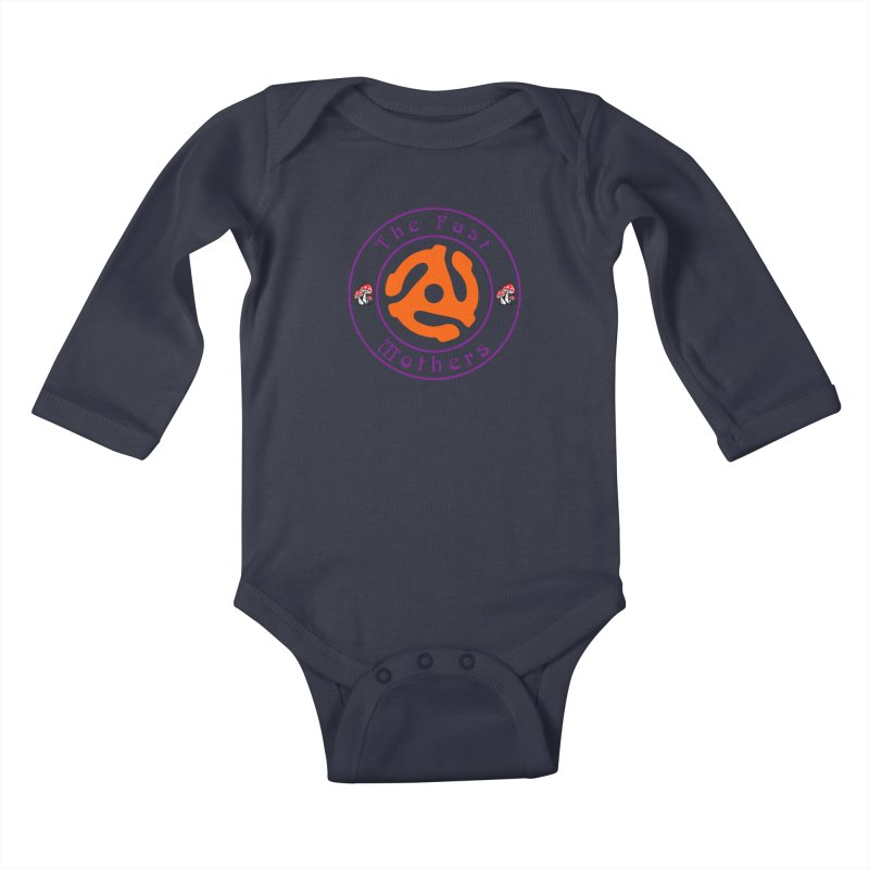 45 RPM for Light Colors Kids Baby Longsleeve Bodysuit by The Fast Mothers