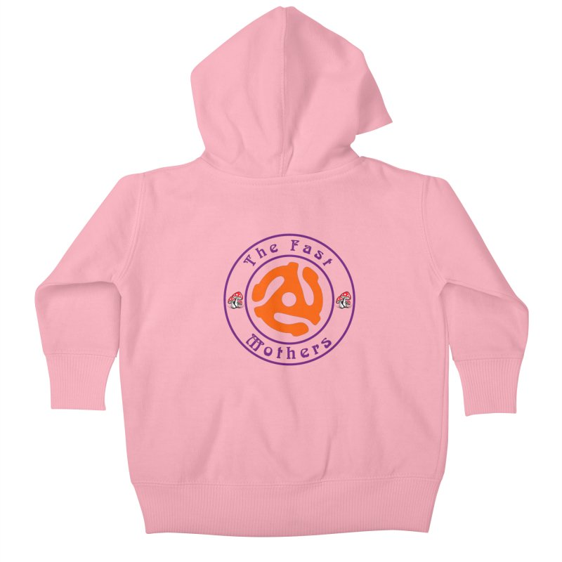 45 RPM for Light Colors Kids Baby Zip-Up Hoody by The Fast Mothers