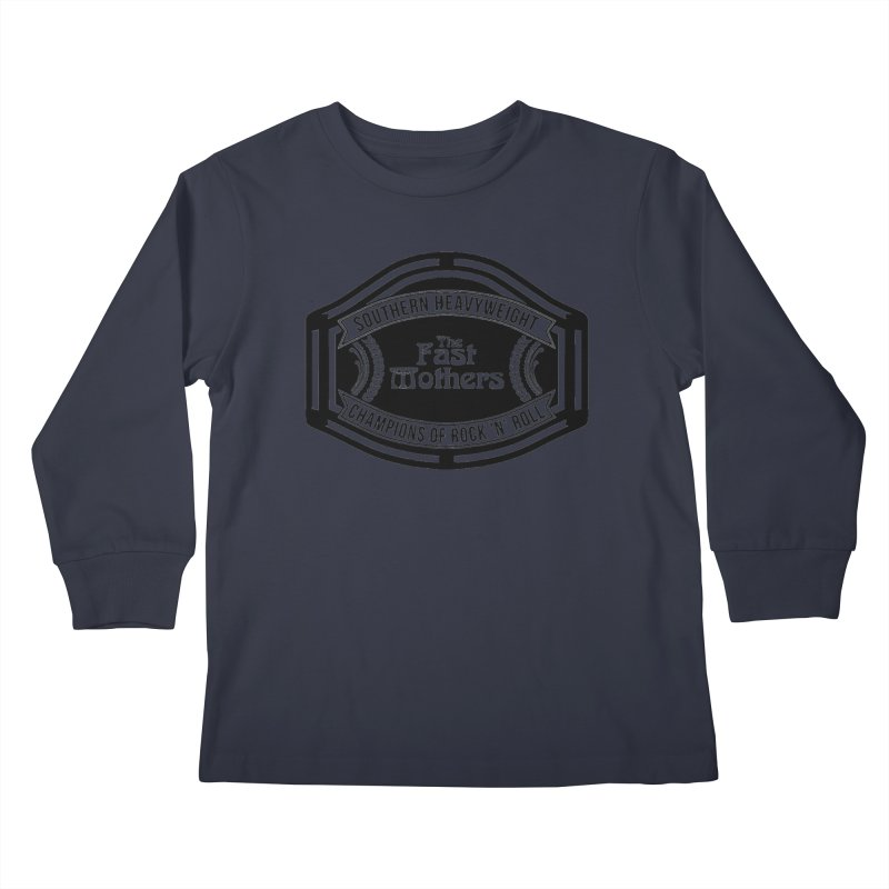 Champion Belt for Light Colors Kids Longsleeve T-Shirt by The Fast Mothers