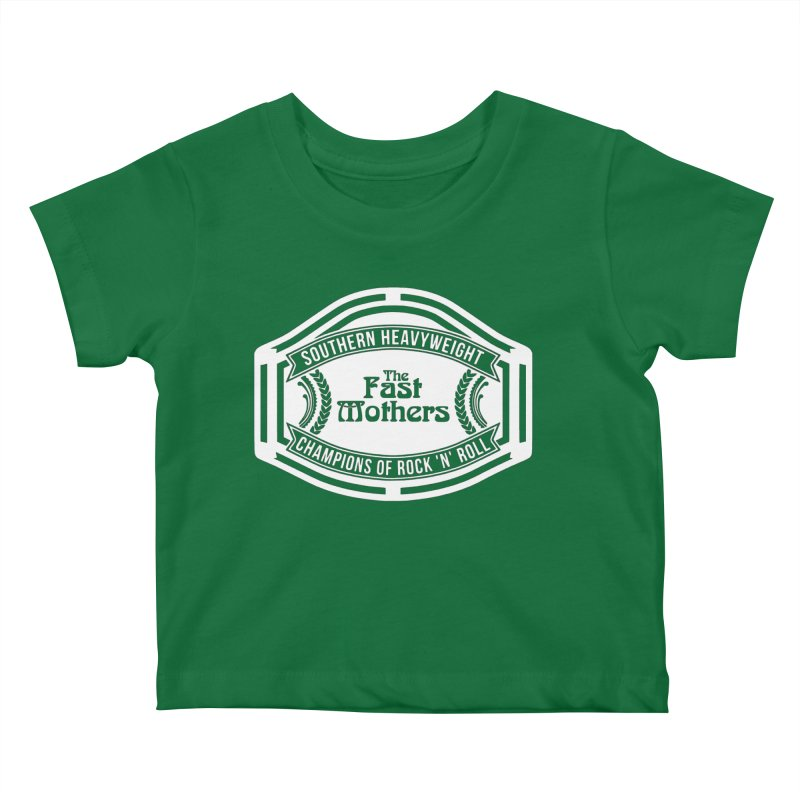 Champion Belt for Dark Colors Kids Baby T-Shirt by The Fast Mothers