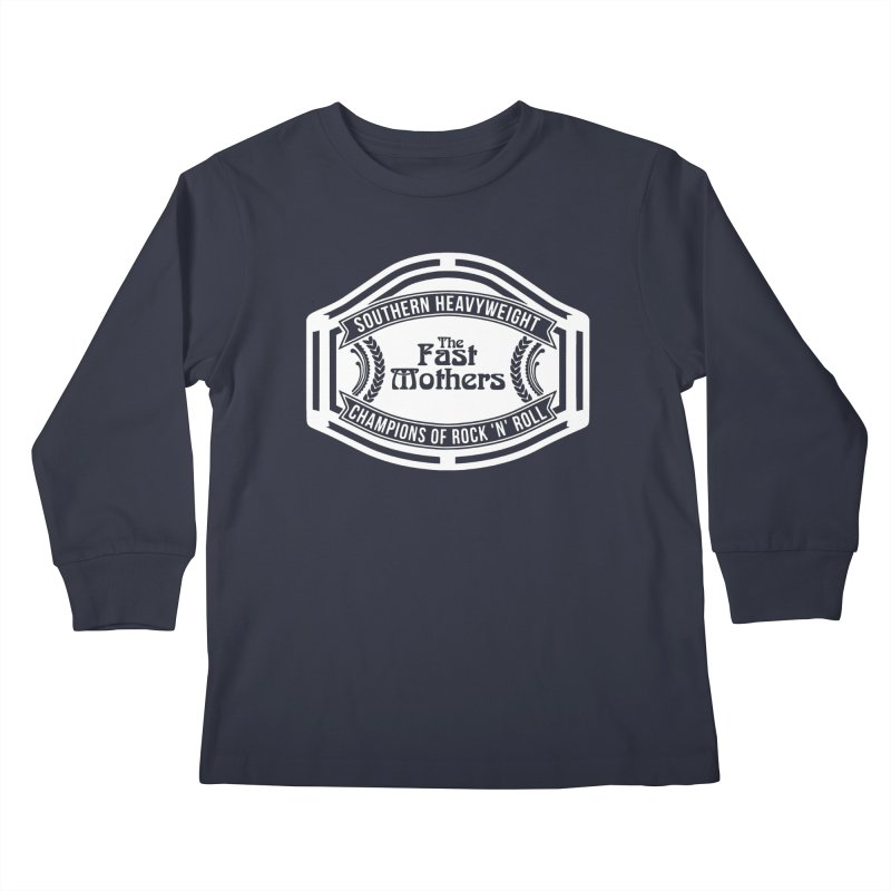 Champion Belt for Dark Colors Kids Longsleeve T-Shirt by The Fast Mothers