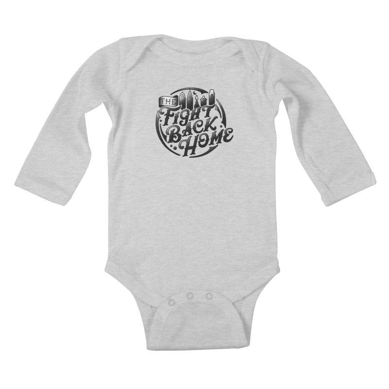 Emblem in Black Kids Baby Longsleeve Bodysuit by The Fight Back Home Merch