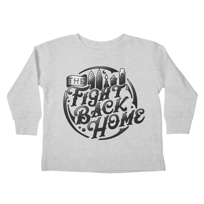 Emblem in Black Kids Toddler Longsleeve T-Shirt by The Fight Back Home Merch
