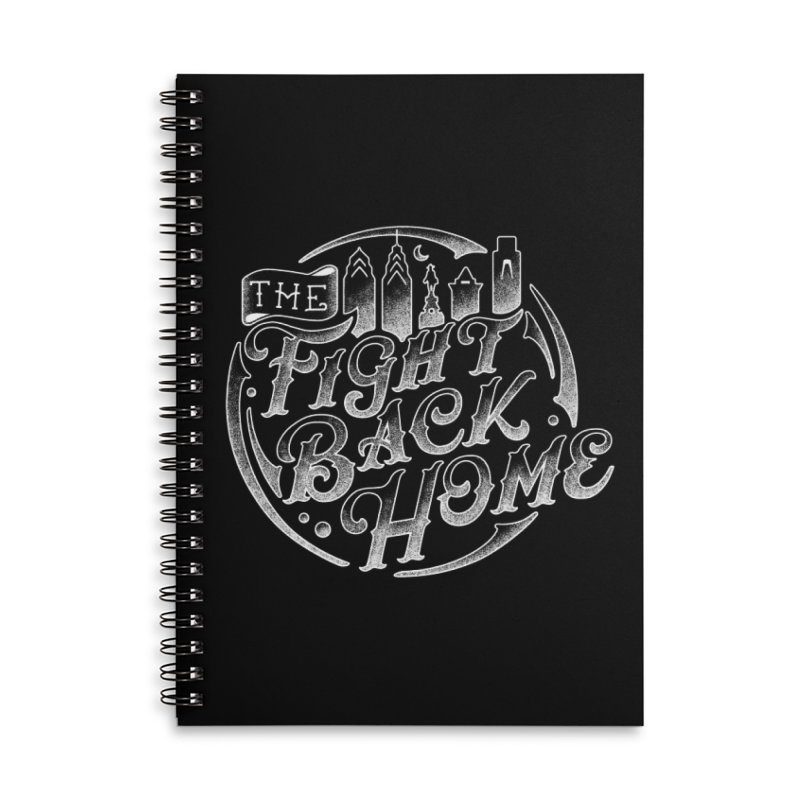 Emblem in White Accessories Notebook by The Fight Back Home Merch