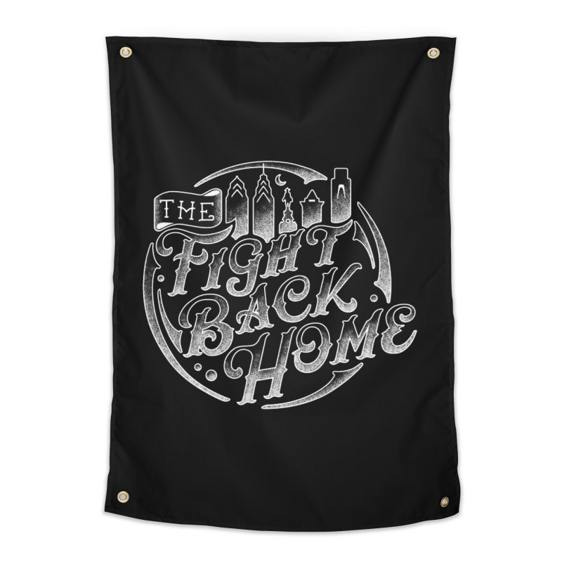 Emblem in White Home Tapestry by The Fight Back Home Merch