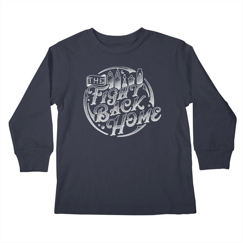 Emblem in White Kids Longsleeve T-Shirt by The Fight Back Home Merch