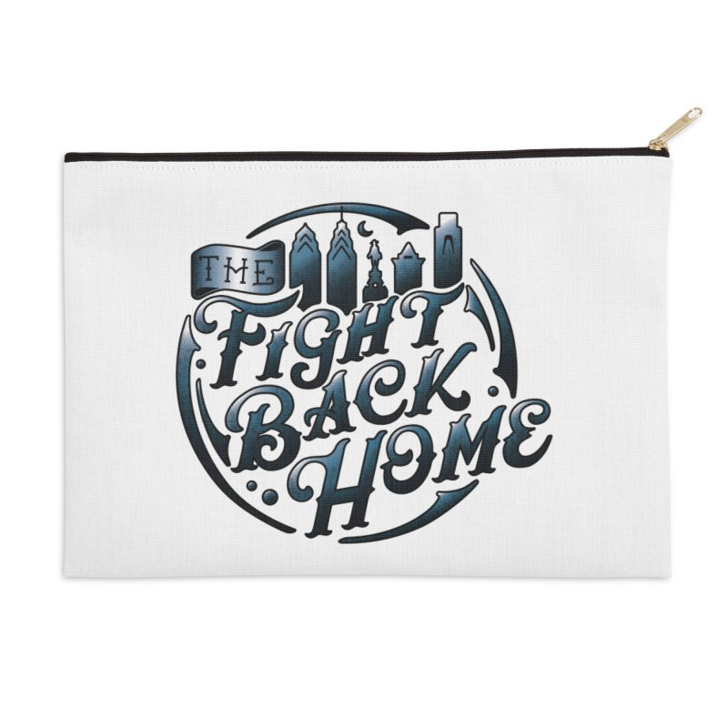 Emblem in Navy Accessories Zip Pouch by The Fight Back Home Merch