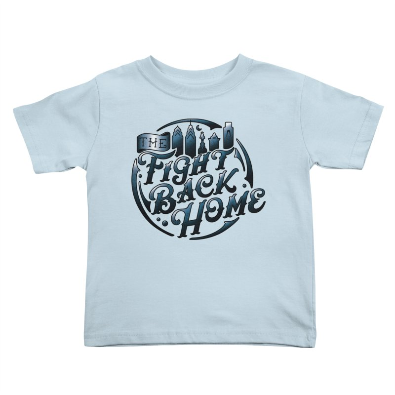 Emblem in Navy Kids Toddler T-Shirt by The Fight Back Home Merch