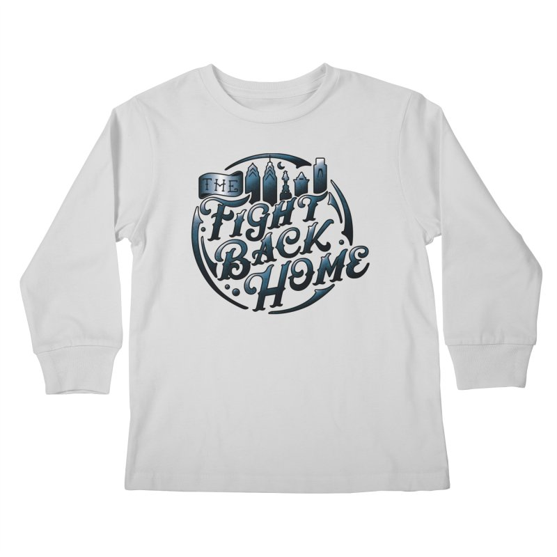 Emblem in Navy Kids Longsleeve T-Shirt by The Fight Back Home Merch