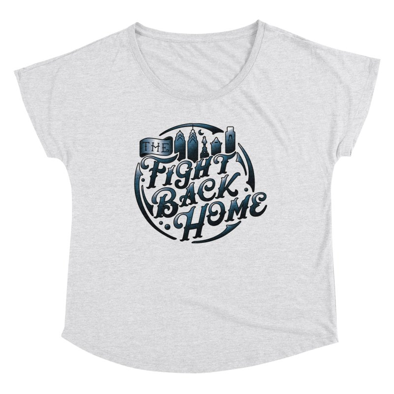 Emblem in Navy Women's Scoop Neck by The Fight Back Home Merch