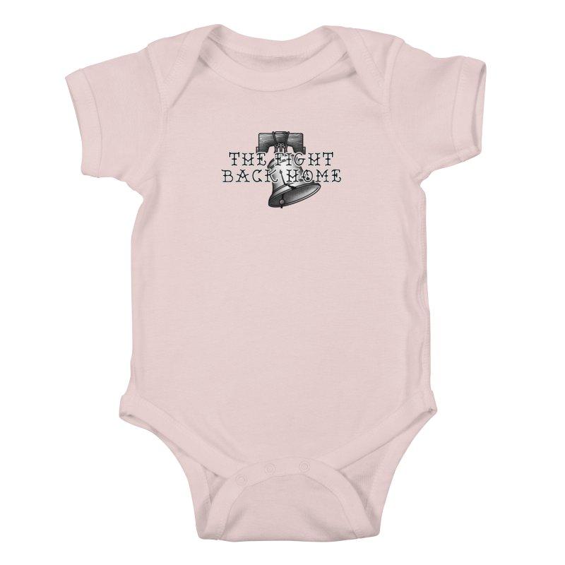 Wordmark in Black Kids Baby Bodysuit by The Fight Back Home Merch