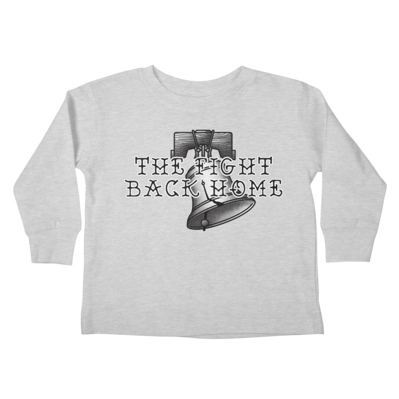 Wordmark in Black Kids Toddler Longsleeve T-Shirt by The Fight Back Home Merch