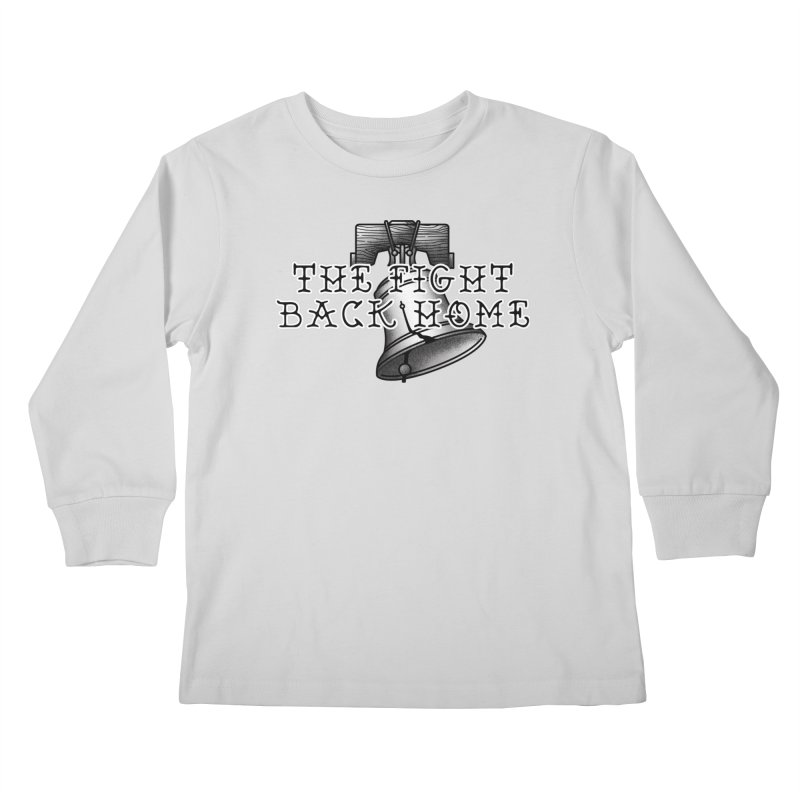 Wordmark in Black Kids Longsleeve T-Shirt by The Fight Back Home Merch