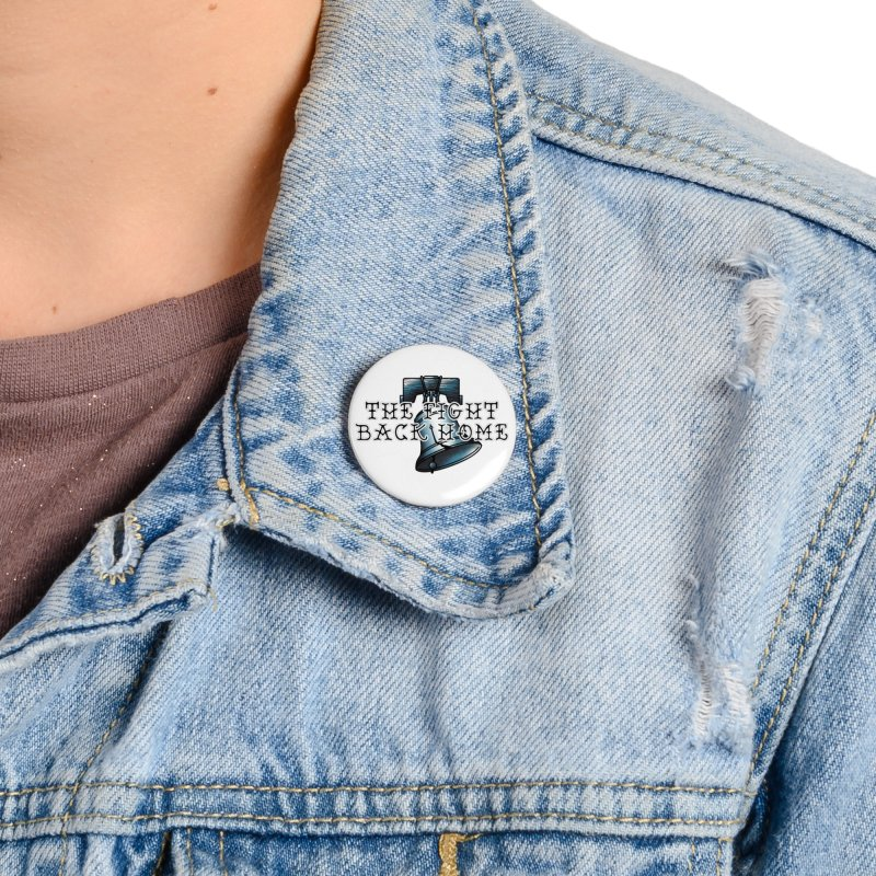 Wordmark in Navy Accessories Button by The Fight Back Home Merch