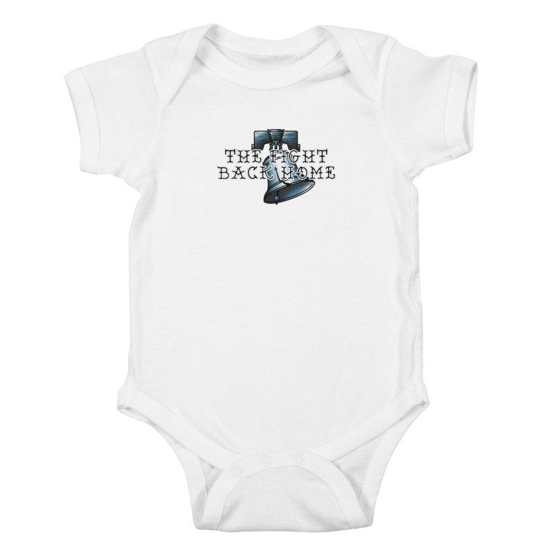 Wordmark in Navy Kids Baby Bodysuit by The Fight Back Home Merch