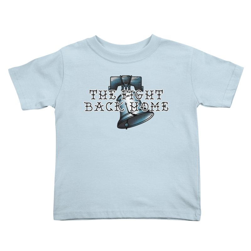 Wordmark in Navy Kids Toddler T-Shirt by The Fight Back Home Merch
