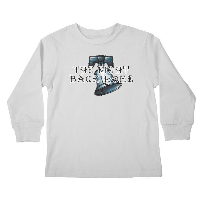 Wordmark in Navy Kids Longsleeve T-Shirt by The Fight Back Home Merch