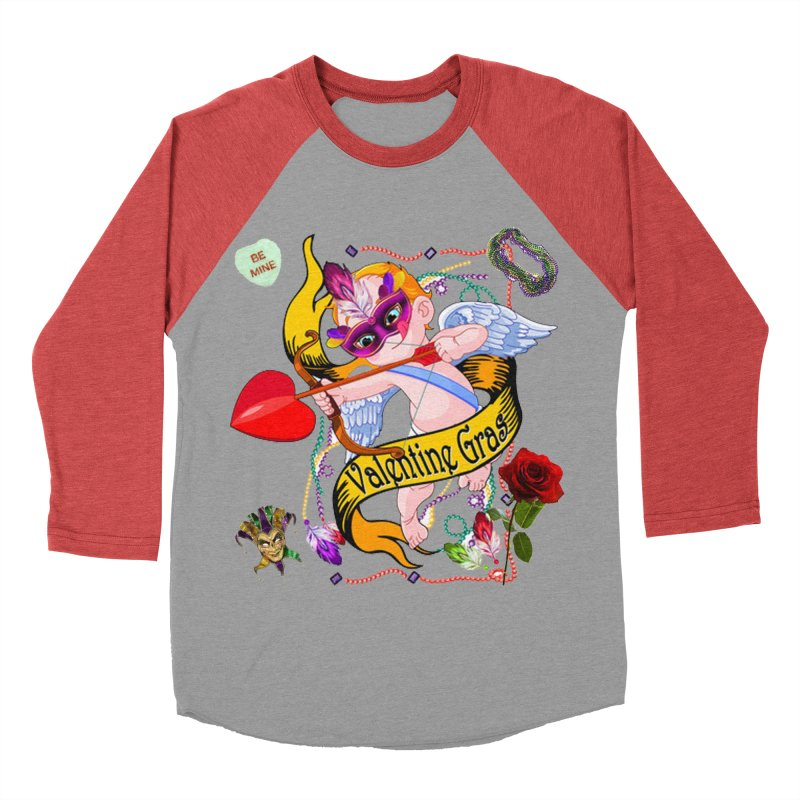 Valentine Gras Men's Baseball Triblend T-Shirt by The Final Boss