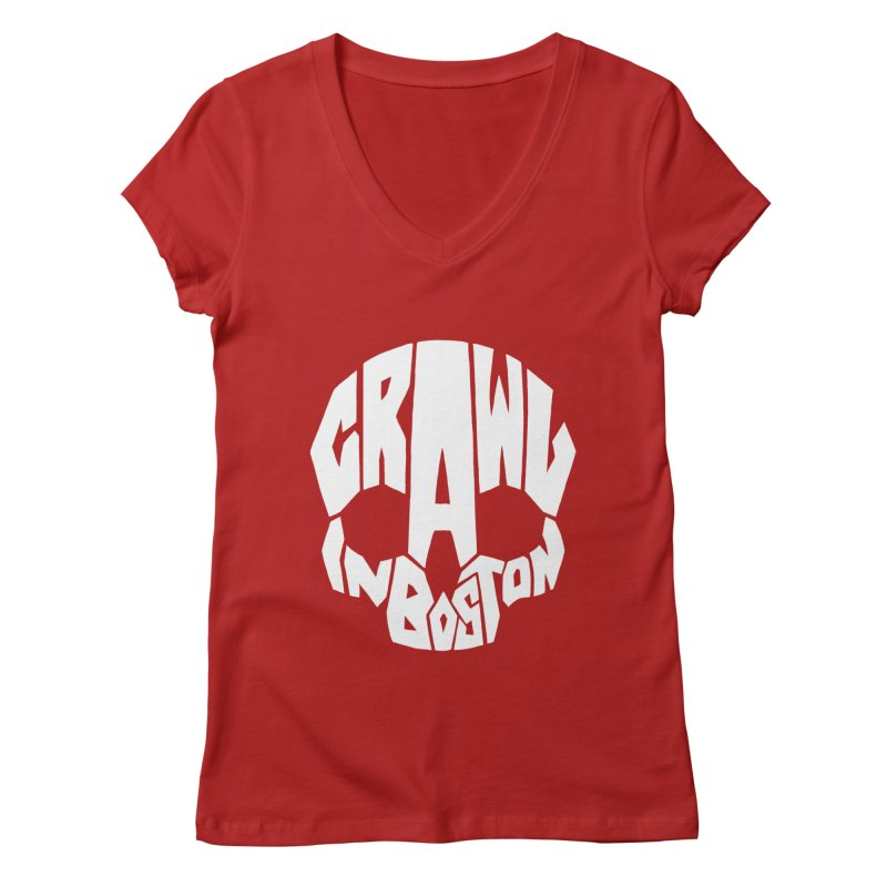 Pirate Crawl with Crawl In Boston Women's V-Neck by The Final Boss