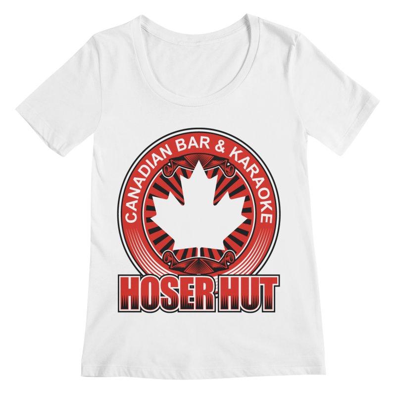Hoser Hut Women's Regular Scoop Neck by The Final Boss