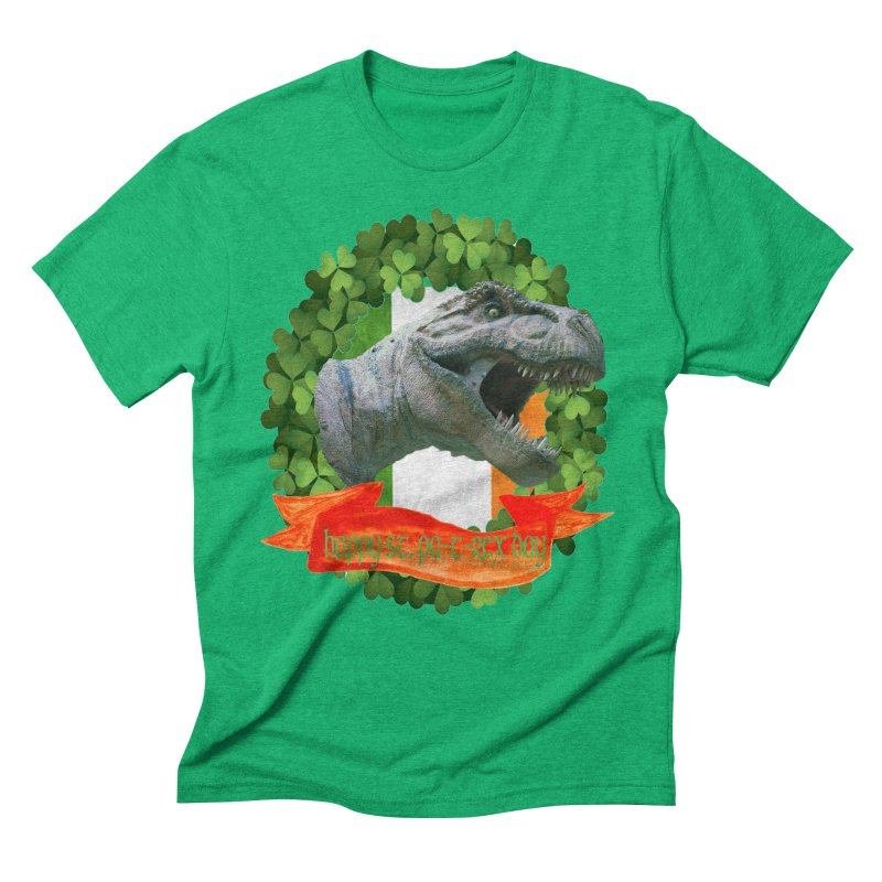 Happy St. Pa-T-Rex Day Men's Triblend T-Shirt by The Final Boss