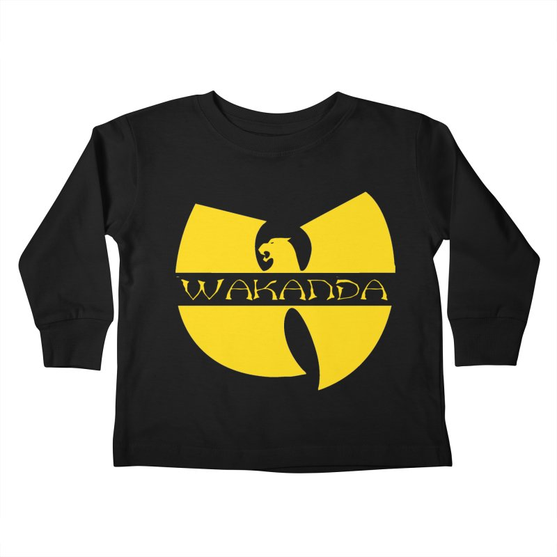 Wakanda Kids Toddler Longsleeve T-Shirt by The Final Boss