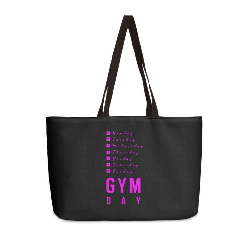 Gym Day (Pink) in Weekender Bag by thefitnesswebzine's Artist Shop