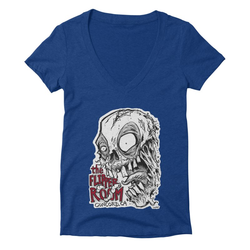 TFR Zombie Women's V-Neck by The Flipper Room Shop