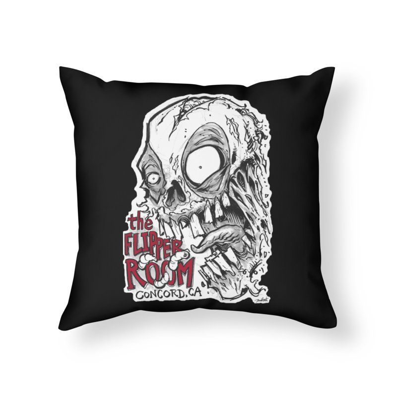 TFR Zombie Home Throw Pillow by The Flipper Room Shop