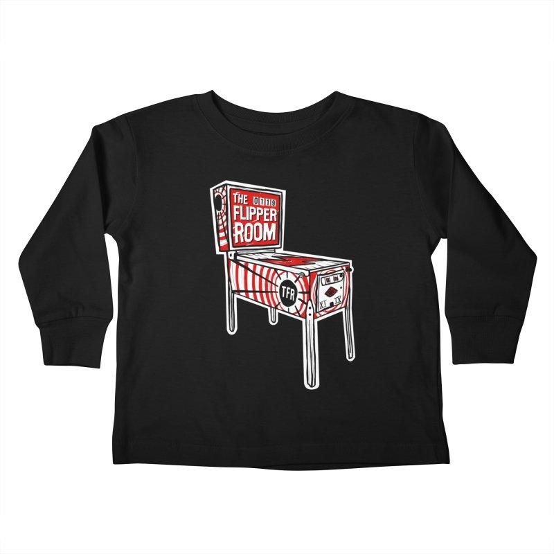 XIIX TFR Pinball Machine Kids Toddler Longsleeve T-Shirt by The Flipper Room Shop