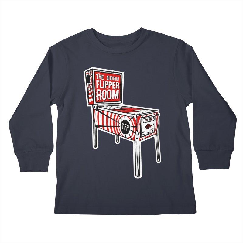 XIIX TFR Pinball Machine Kids Longsleeve T-Shirt by The Flipper Room Shop