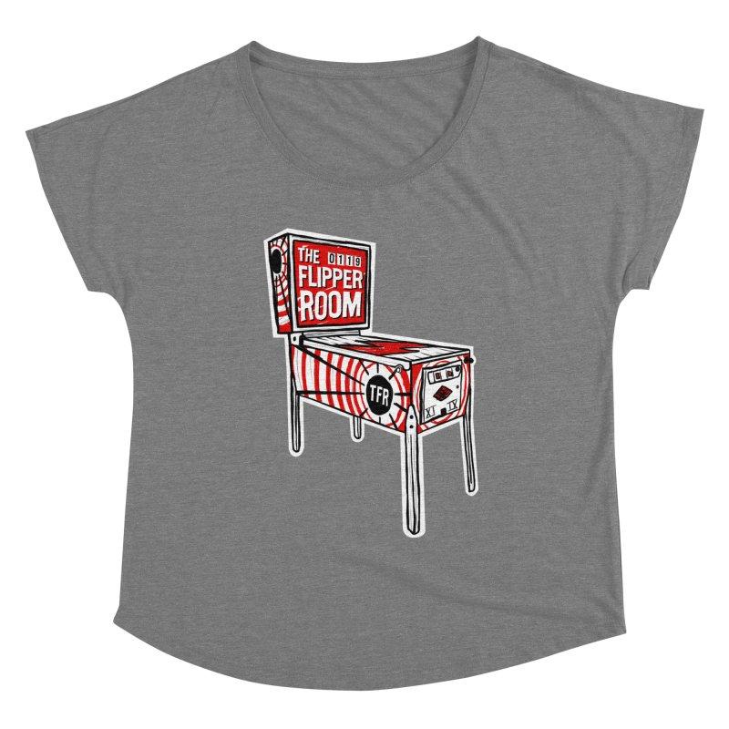 XIIX TFR Pinball Machine Women's Scoop Neck by The Flipper Room Shop