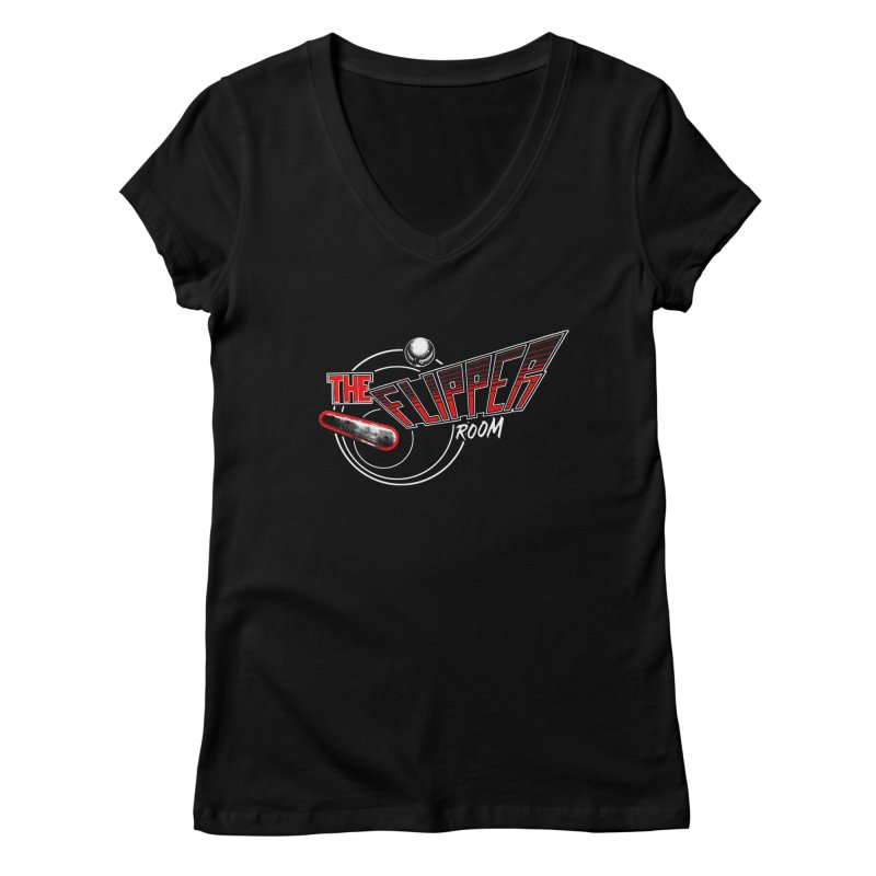 Retro TFR Women's V-Neck by The Flipper Room Shop