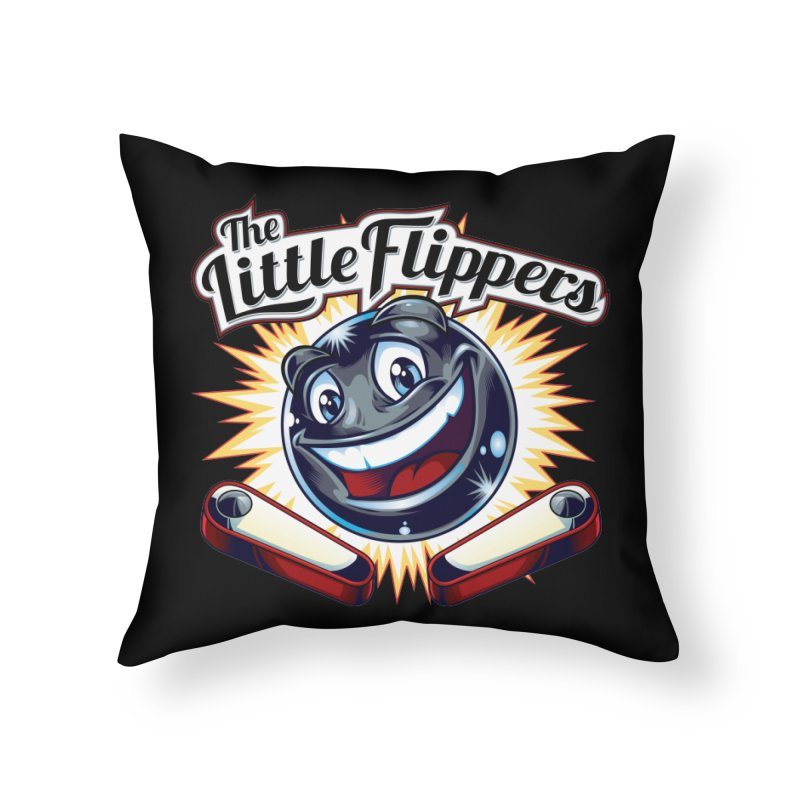 The Little Flippers Home Throw Pillow by The Flipper Room Shop