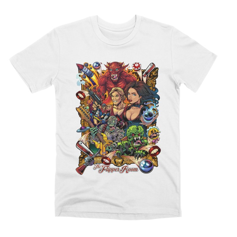 Pinball Portrait Men's T-Shirt by The Flipper Room Shop