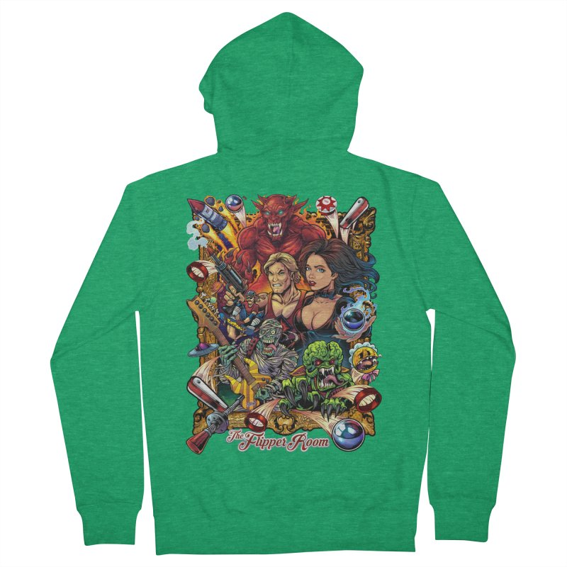 Pinball Portrait Men's Zip-Up Hoody by The Flipper Room Shop