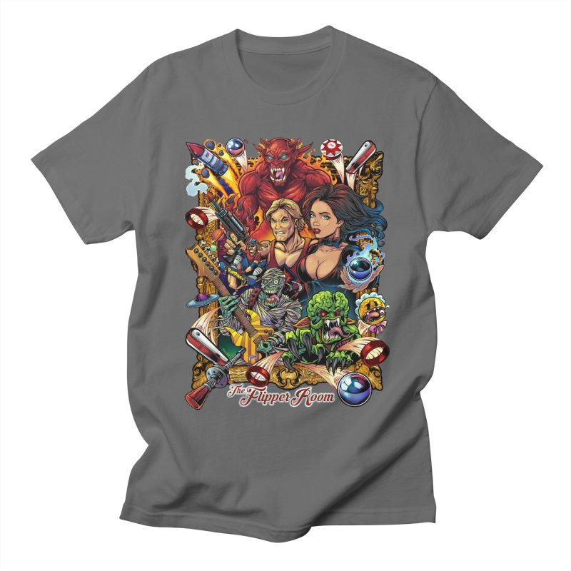 Pinball Portrait Men's T-Shirt by The Flipper Room Shop