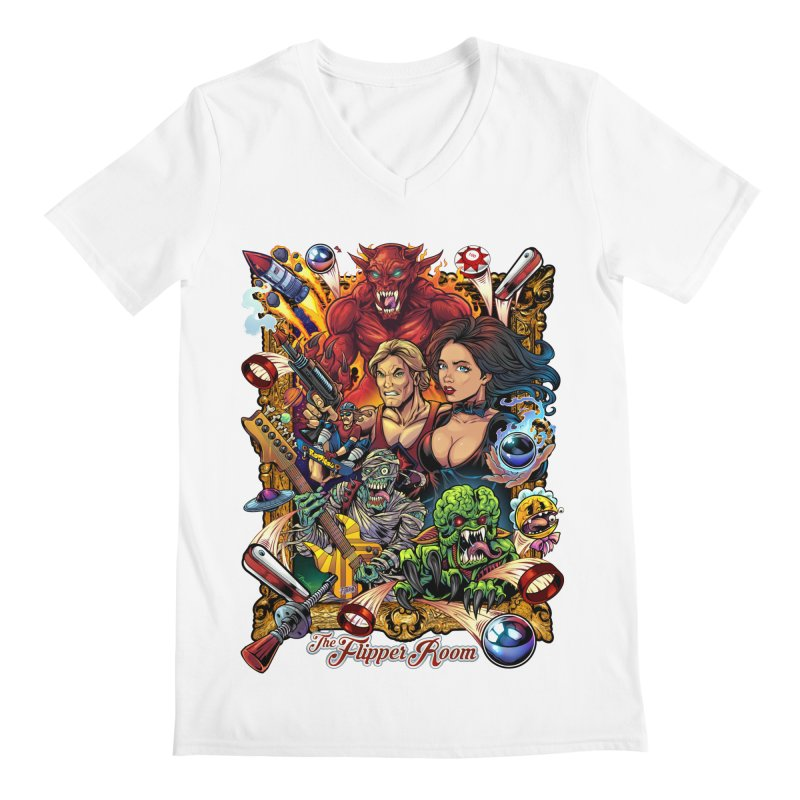 Pinball Portrait Men's V-Neck by The Flipper Room Shop