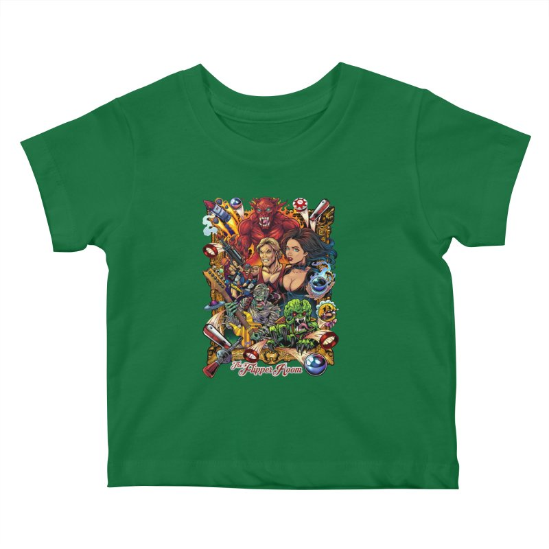 Pinball Portrait Kids Baby T-Shirt by The Flipper Room Shop