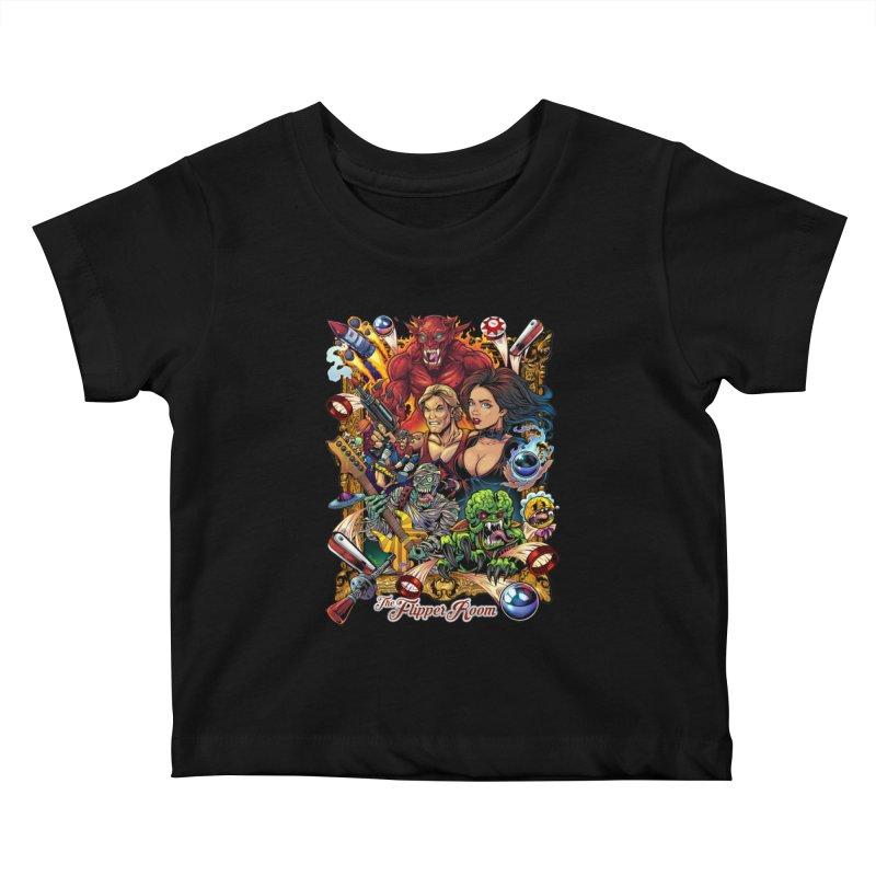 Pinball Portrait Kids Baby T-Shirt by The Flipper Room Shop