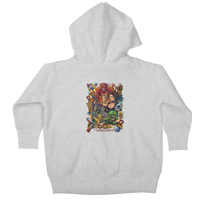 Pinball Portrait Kids Baby Zip-Up Hoody by The Flipper Room Shop