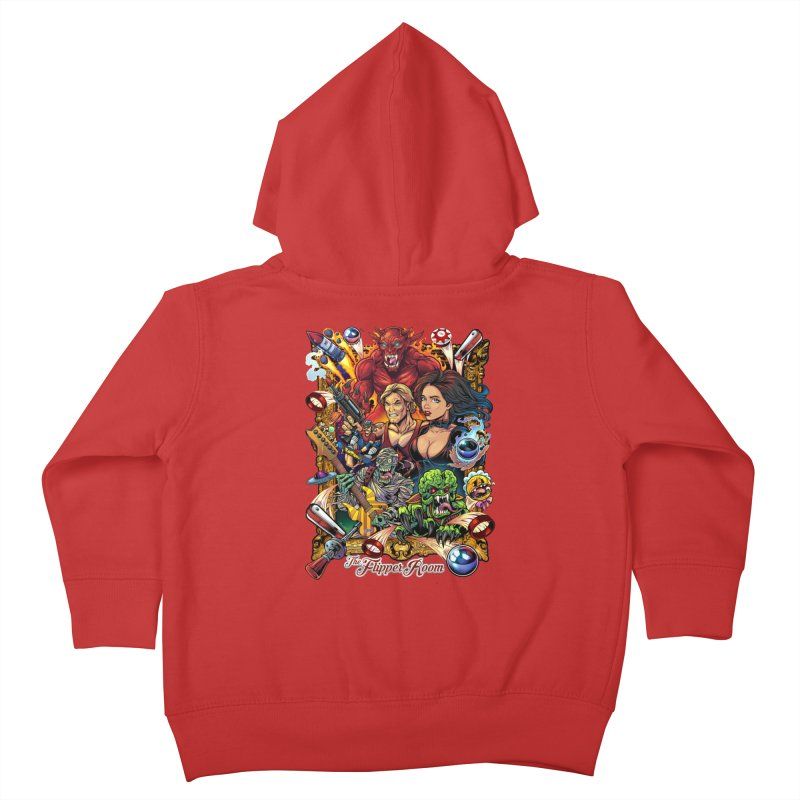 Pinball Portrait Kids Toddler Zip-Up Hoody by The Flipper Room Shop