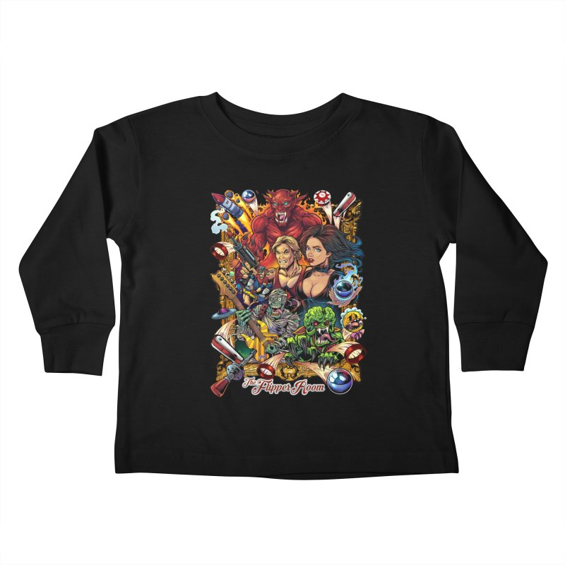 Pinball Portrait Kids Toddler Longsleeve T-Shirt by The Flipper Room Shop