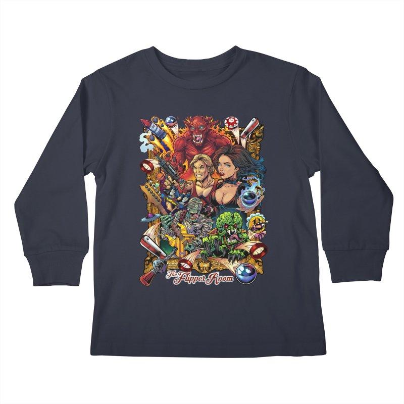 Pinball Portrait Kids Longsleeve T-Shirt by The Flipper Room Shop